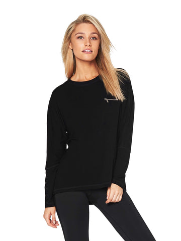 HARKNESS BRUSHED-LUXE MUSCLE TEE - BLACK LEOPARD