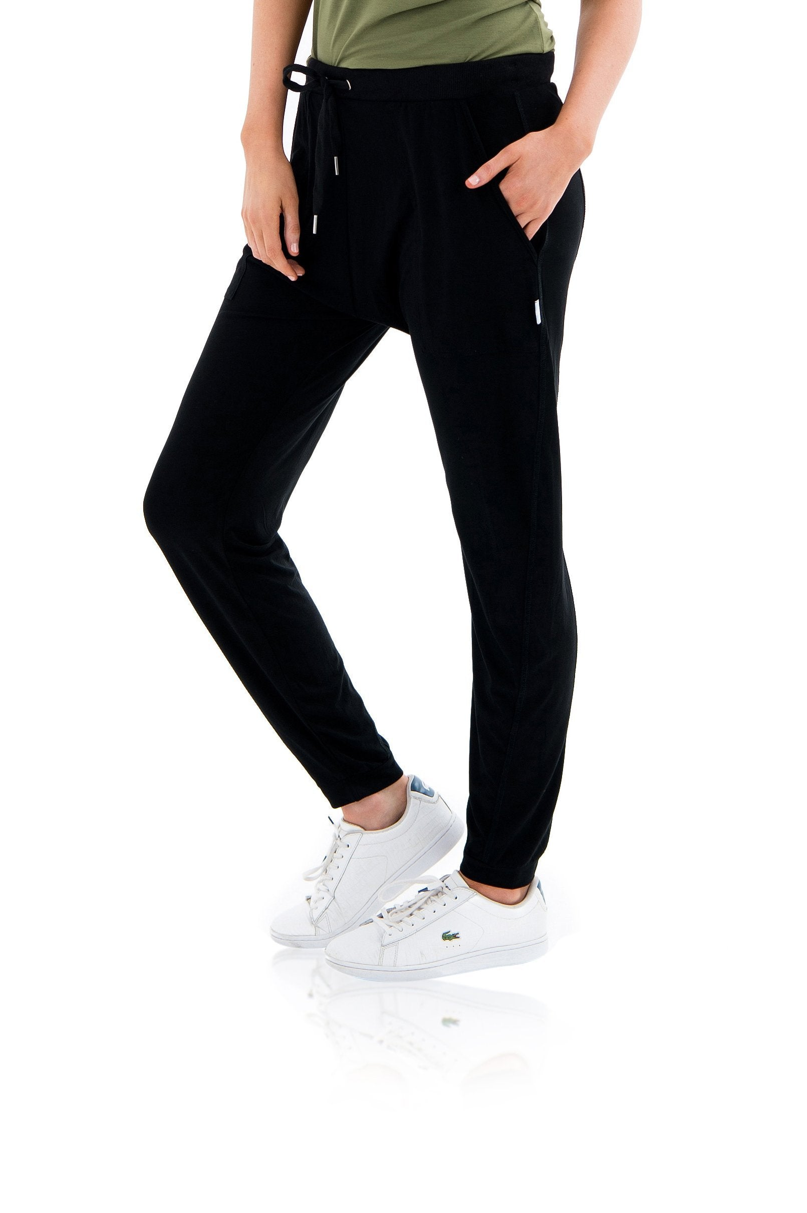 WILSON SLOUCH PANT - BLACK