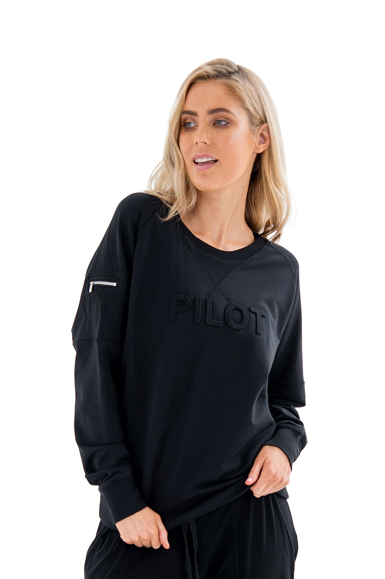 HANNA RELAX SWEATER - BLACK