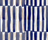 Watercolor Stripes in Royal Blue Pillow
