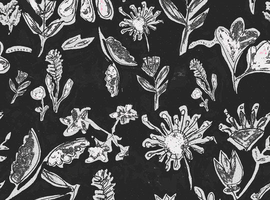 Dried Flowers in Black