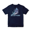 BELIEVERS T-SHIRT - NAVY - Jealous Denmark