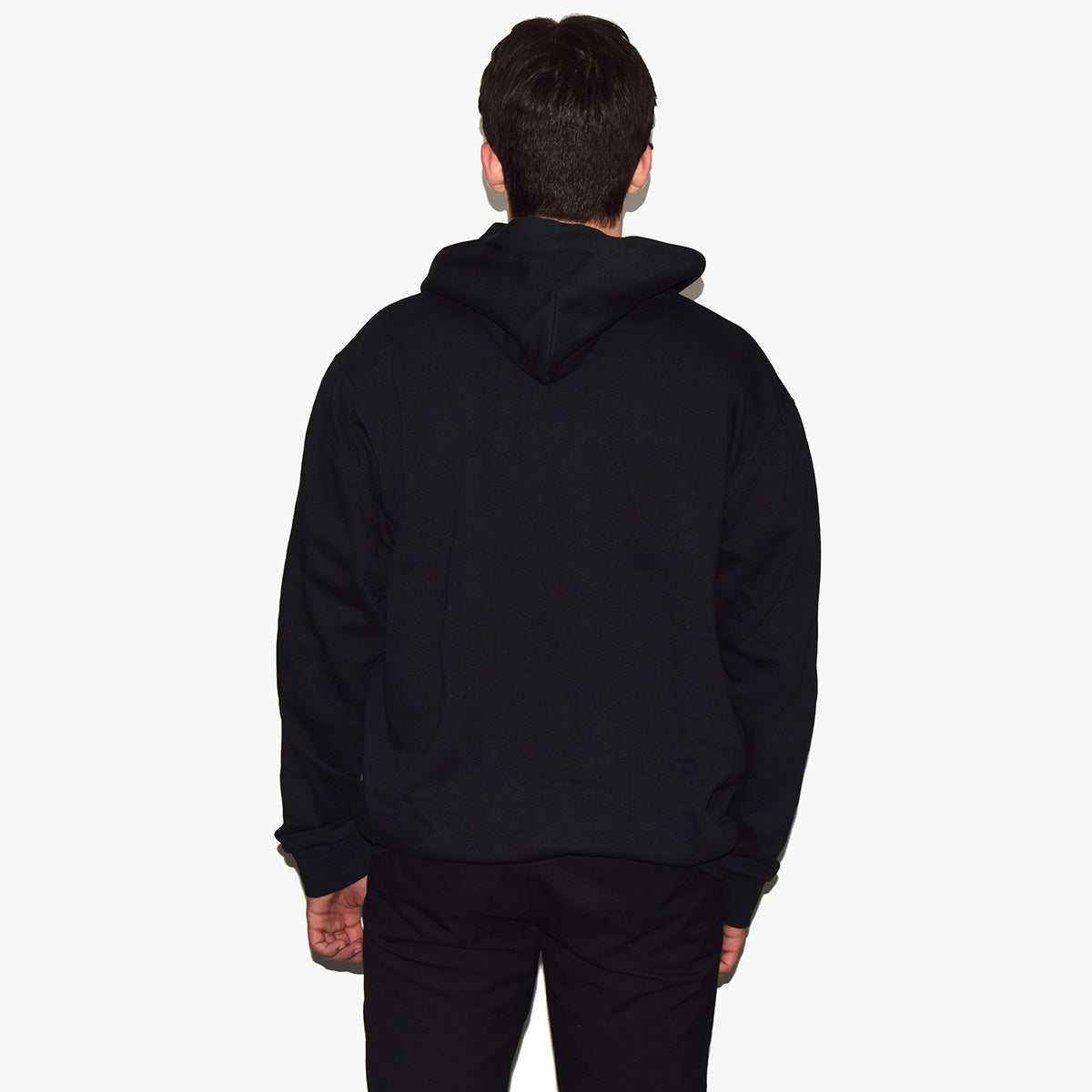 WORLDWIDE ALTERATION ZIP HOODIE - SORT - Jealous Denmark