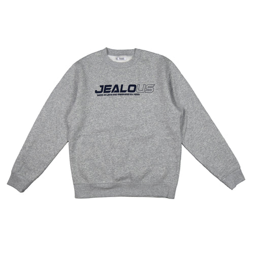 LOVE & FEAR LOGO SWEATSHIRT - GRÅ - Jealous Denmark