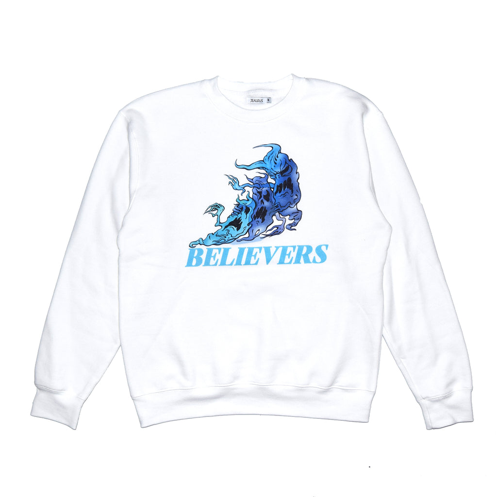 BELIEVERS SWEATSHIRT - HVID - Jealous Denmark