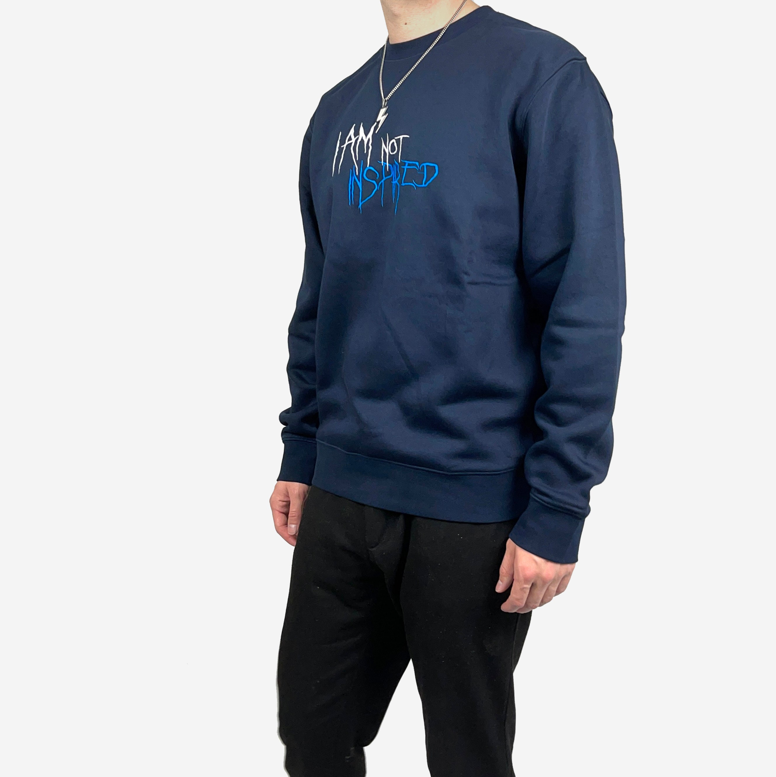 INSPIRED SWEATSHIRT - NAVY - BRODERING