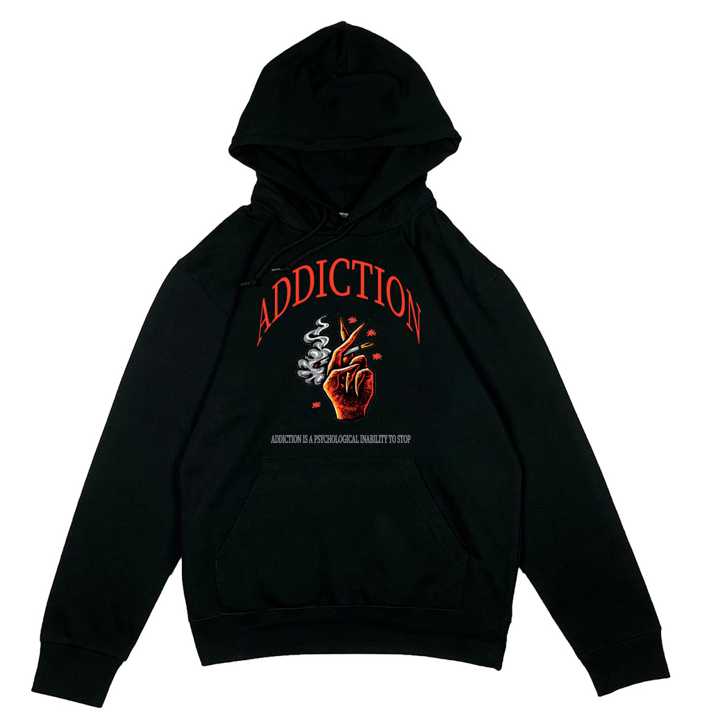 ADDICTION HOODIE - SORT