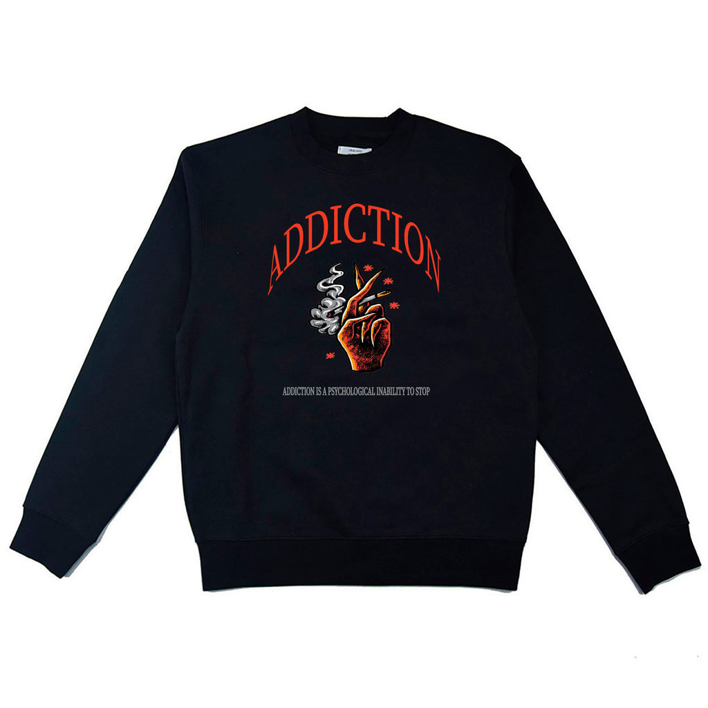 ADDICTION SWEATSHIRT - SORT