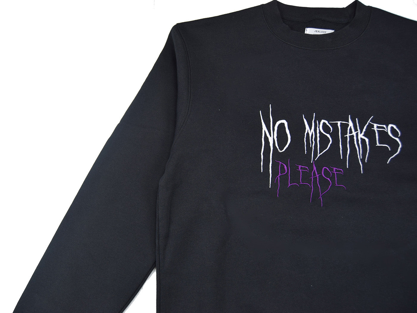 NO MISTAKES SWEATSHIRT - SORT - Jealous Denmark