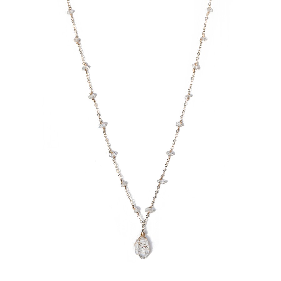 Kriya Diamond Necklace - ISHKJEWELS