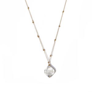 Kriya Diamond Quartz Necklace - ISHKJEWELS