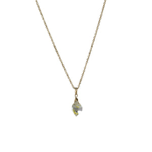 golden herkimer diamond necklace - ISHKJEWELS