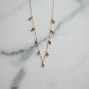earth angel crystal choker - ISHKJEWELS