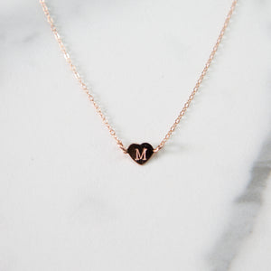 tiny heart necklace - ISHKJEWELS
