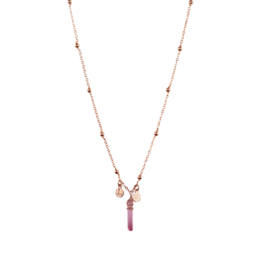 crystal initial necklace - mini crystal - ISHKJEWELS