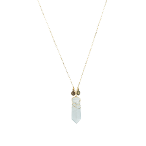 crystal initial necklace - ISHKJEWELS