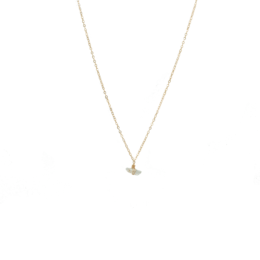 harmony diamond quartz necklace - ISHKJEWELS