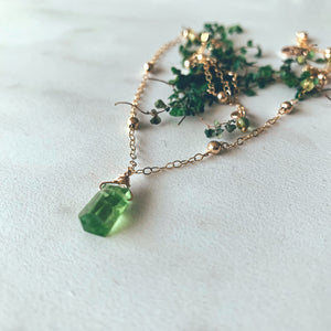mini crystal necklace - ISHKJEWELS