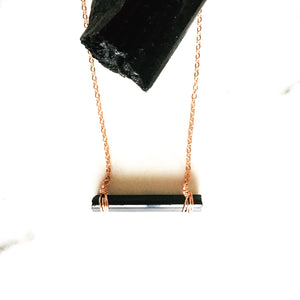 Raw Wrap Black Tourmaline Necklace - ISHKJEWELS