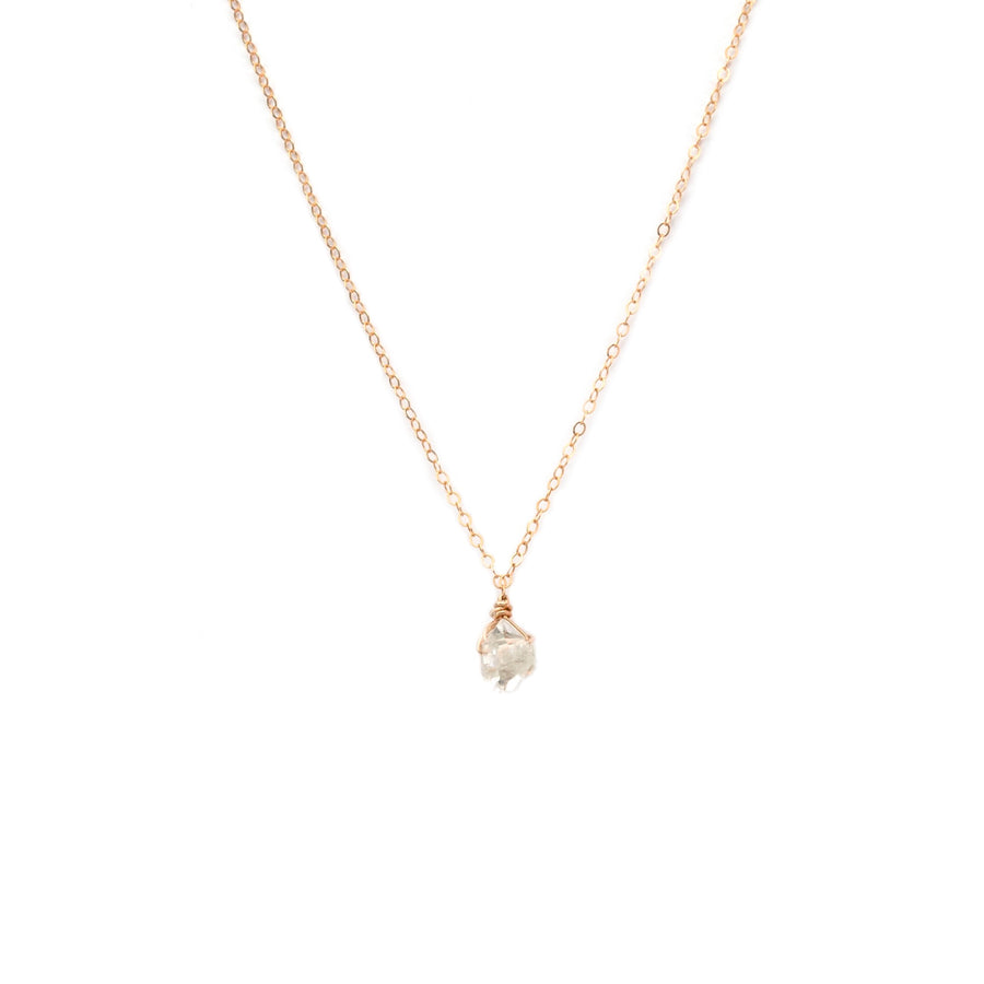aura herkimer diamond necklace - ISHKJEWELS