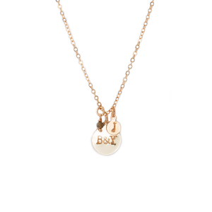 mia initial necklace - ISHKJEWELS