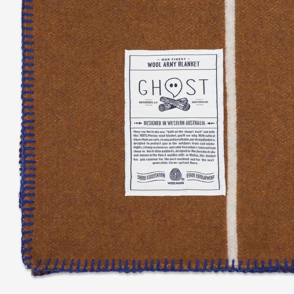 Ghost Outdoors Ochre Road Army Blanket