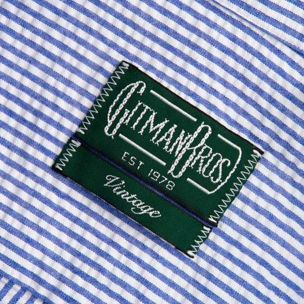 Gitman Vintage Seersucker Stripe Short Sleeve Shirt