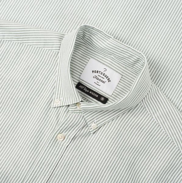 Portuguese Flannel Belavista Stripe Oxford Button Down Collar Shirt