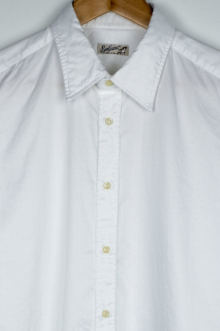 Belvilacqua Plain Twill Cotton Shirt