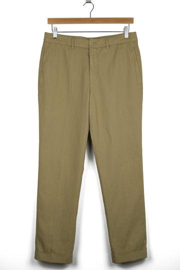 Aspesi Dover Cotton/Linen Herringbone Trouser