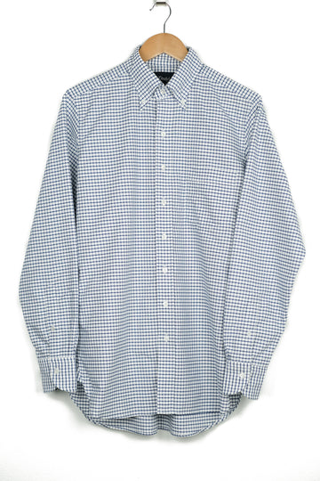 Drake's Oxford Check Button Down Shirt