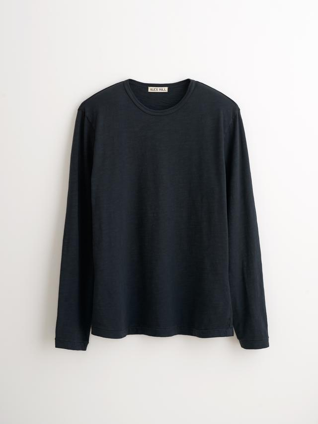 Alex Mill Standard Slub LS Cotton Tee Black