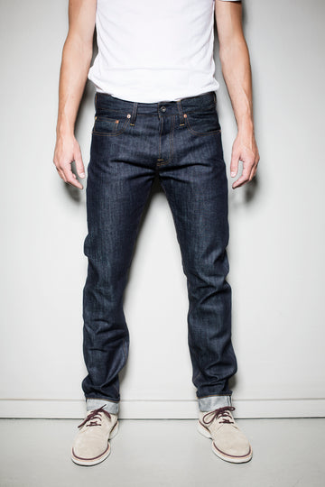 C.O.F. Studio M3 Selvedge Tapered Denim Jean - Unwashed