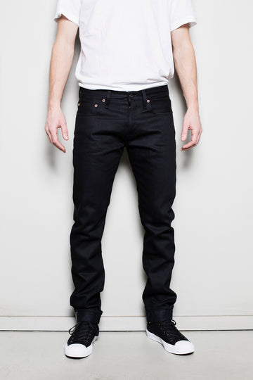C.O.F. Studio M3 Selvedge Tapered Denim Jean - Black