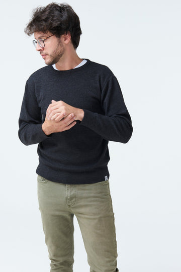 McIntyre 'The Duncan' Merino Crew Pullover Charcoal