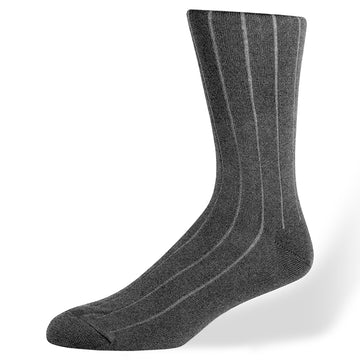 Di Carlo Cotton/Cashmere Wide Rib Sock