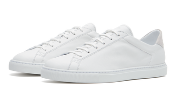 Racquet Lo-Top Sneaker White Calf