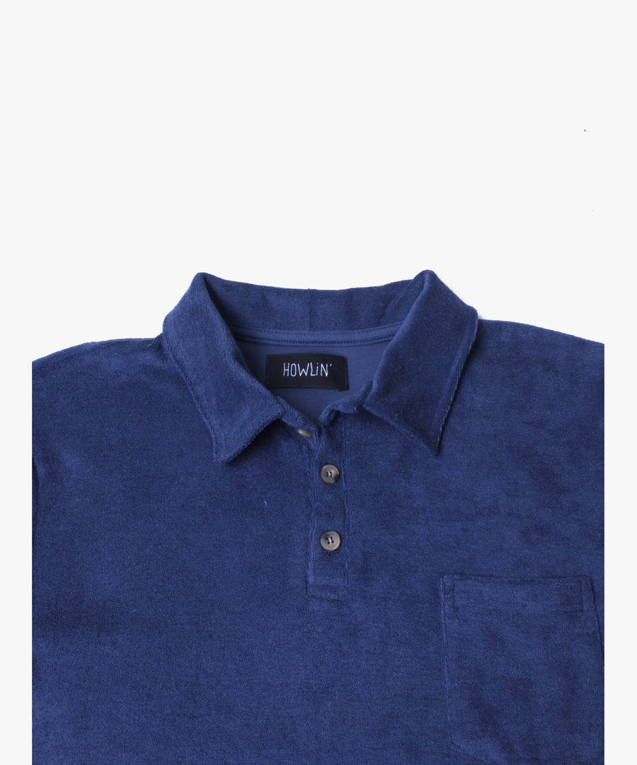 Howlin' Mr Fantasy Terry Pocket Polo Medium Blue