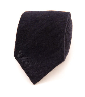 Drake's Pure Cashmere Tie Navy