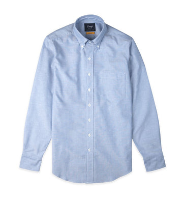 Drake's Oxford Cotton Button Down Collar Shirt