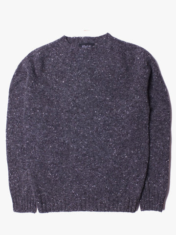 Howlin' Terry Wool Donegal Crew Pullover Charcoal