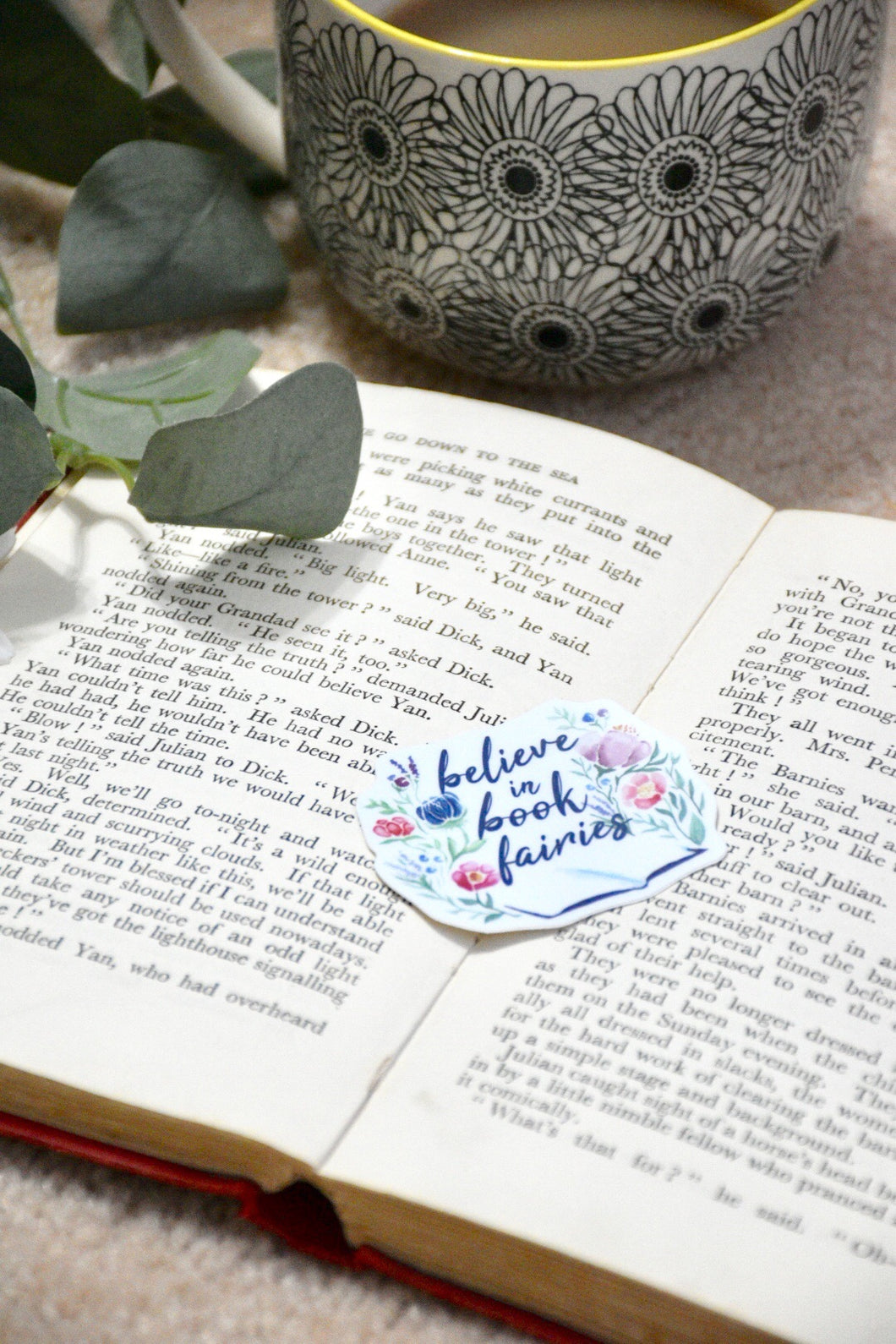 Believe in Book Fairies Sticker