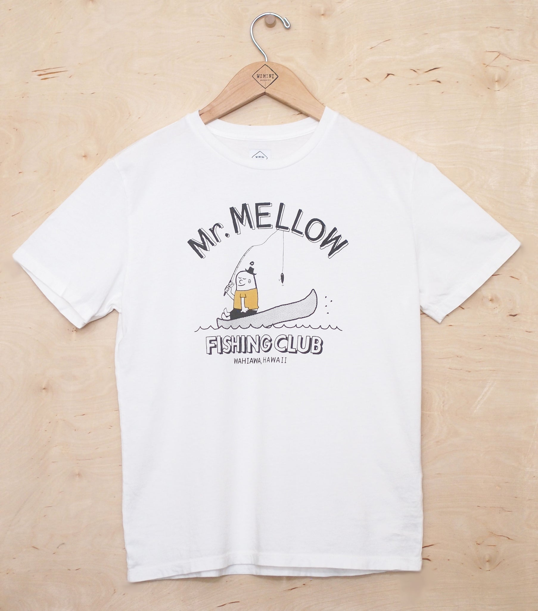 Mr. Mellow Fishing Club TEE- NATURAL WHITE