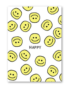 GREETING CARD - HAPPY FACE