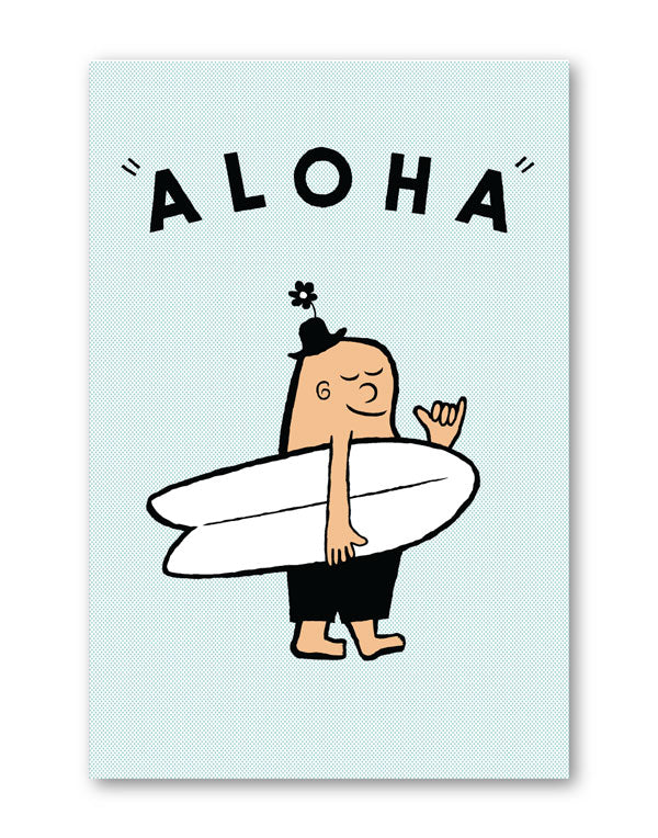 GREETING CARD - MR.MELLOW ALOHA