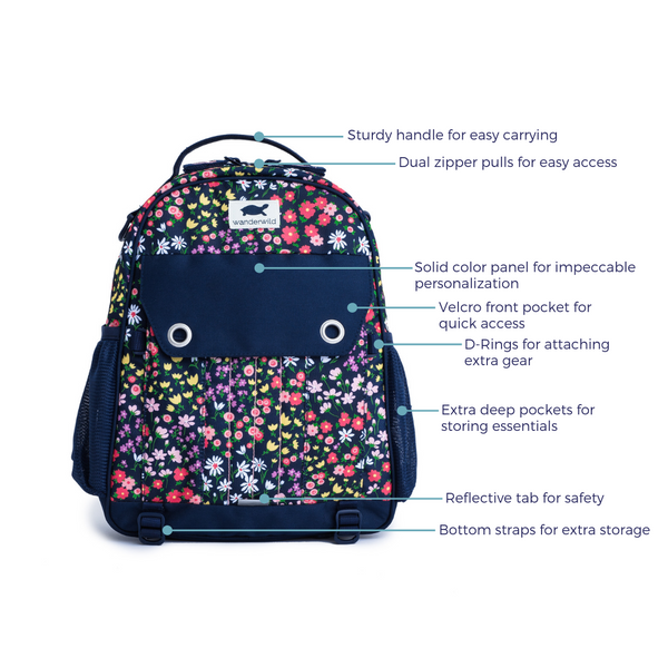 The Explorer Backpack product features front of pack