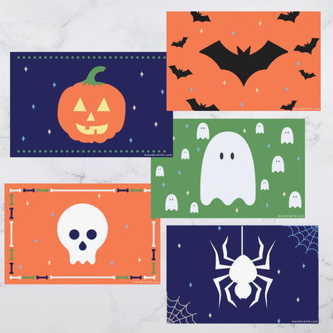Printable: Kids Halloween Placemats