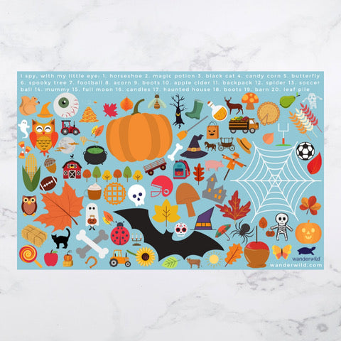 "Printable: ""I Spy"" Kids Placemat for Fall"