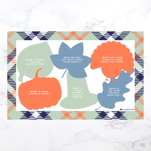 Printable: Fall Conversation Placemats