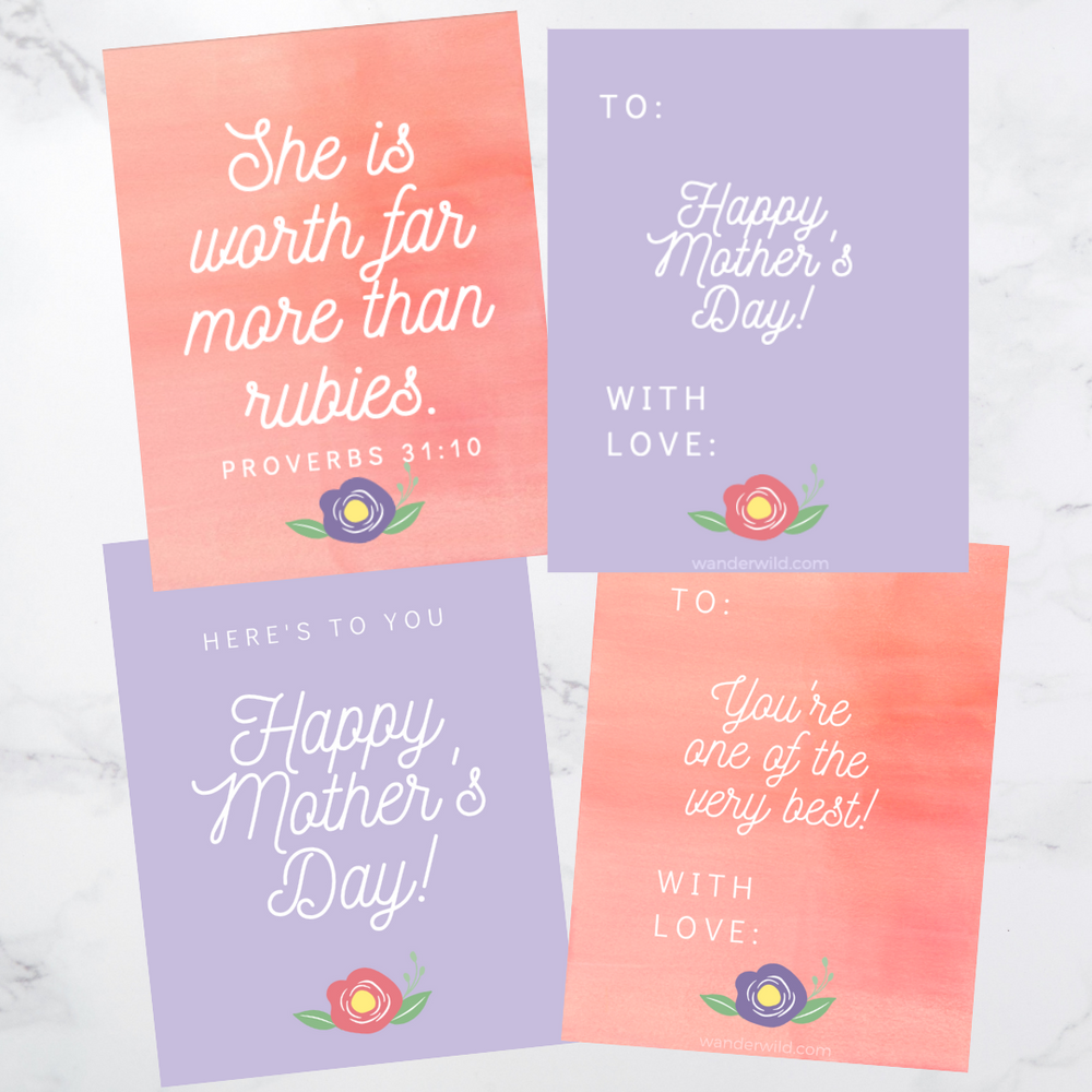 Printable: Mother's Day Note Card